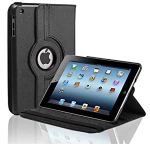 Black Apple iPad Mini 2 Retina Display Tablet 360 Degree Rotating Smart Leather Book Case Flip Cover Pouch