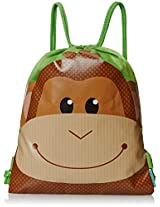 Stephen Joseph Boys' Drawstring Bag, Monkey, 12x15.5