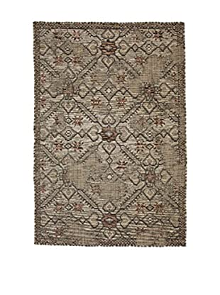 3K Teppich Avangard 36015A Green/Brown (mehrfarbig)