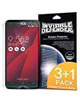 ASUS ZenFone 2 (5.5 Inch)Screen Protector -Invisible Defender [Case Friendly][MAX HD CLARITY] Perfect Touch Precision High Definition (HD) Clarity Film (4-Pack) with Lifetime Warranty for ASUS ZenFone 2 [ZE550ML/ZE551ML 5.5 - Not for ZE500CL]