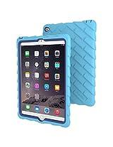 Gumdrop Cases Drop Tech Rugged Case for Apple iPad Air 2 (Light Blue-Royal Blue)