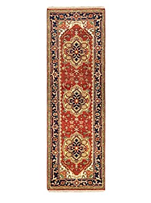 Hand-Knotted Serapi Heritage Wool Rug, Dark Copper, 2' 7