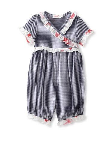 Jupon Baby Karen Short Sleeve Kimono Romper (Red)