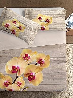 Ipersan Betttuch und Kissenbezug Orchid