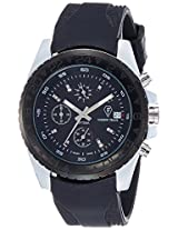 Optima Analog Black Dial Men's Watch - OFT-2440 SILVER BLACK