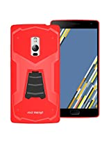 OnePlus Two Back Cover / Case - OnePlus 2 Back Cover / Case - TransArmor TPU Back Cover with Kick Stand for One Plus Two - Fiery Red
