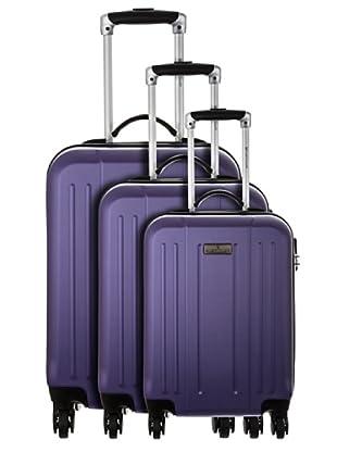 Platinium 3er Set Trolley Cardo (Violett)