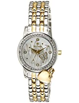 Titan Purple Analog Silver Dial Women's Watch - 9790BM01J