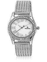 Maxima Swarovski Attivo Steel Analog Silver Dial Women's Watch - 29550CMLI