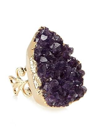 Charlene K Irregular Amethyst Ring