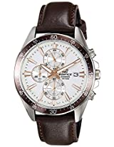 Casio Edifice Chronograph White Dial Men's Watch - EFR-546L-7AVUDF(EX235)