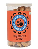 100% Nutty Gritties Cholesterol Free Honey Roasted Cashews - 180g