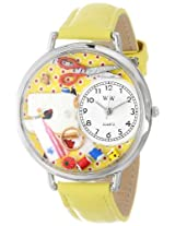 Whimsical Watches Unisex U0450001 Sewing Yellow Leather Watch
