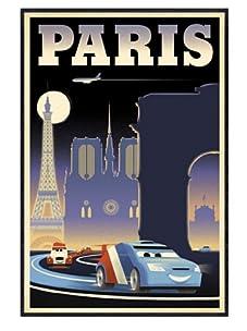 "Cars 2: Paris, 24""x 16"""