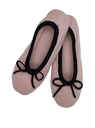 a&R Cashmere Slippers with 2 Tone Trim (Soft Pink)