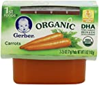 Gerber 1st Foods Organic Carrots 2-Count 2.5-Ounce Tubs (Pack of 8)