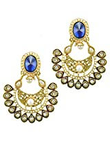 Ethnic Indian Bollywood Jewelry Set Traditional Fashion Imitation EarringsPREA0001BL