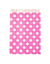 Wrapables Polka Dot Favor Bags, Pink, Set of 25