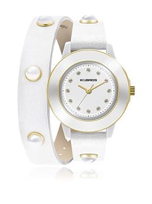 K&Bros  Reloj 9574-4 Blanco