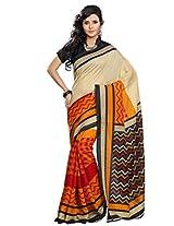Riti Riwaz Black Bhagalpuri Silk saree with unstitched blouse LNY6118A
