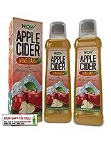 Wow Apple Cider Vinegar - 750 ml (Pack of 2)