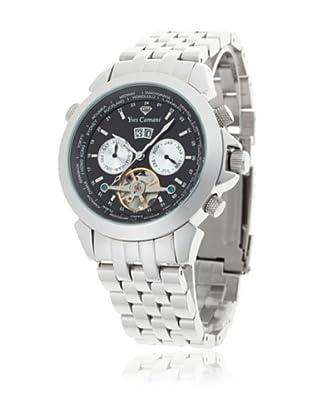 Yves Camani Reloj Worldtimer Automático Plata / Negro