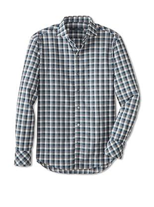 Zachary Prell Men's Darren Checked Long Sleeve Shirt (Blue Combo)