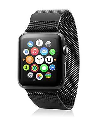 Unotec Uhrenband für Smartwatch Metal Watch 42 mm schwarz