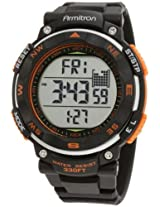 Armitron Sport Men's 40/8254ORG Sport Watch with Black Resin Band