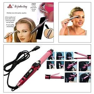 Combo of Nova Professional 2-in-1 Hair Curler & Hair Straightener + Women Eye Brow Trimmer