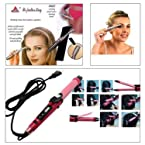 Combo of Nova Professional 2 In 1 Hair Curler & Hair Straightener + Women Eye Brow Trimmer