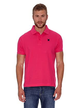Polo Club Polo Custom Fit Escudo Liso (Fucsia)
