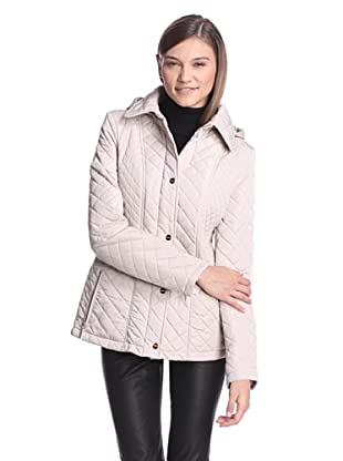 Calvin Klein Women's Quilted Jacket (Flax)