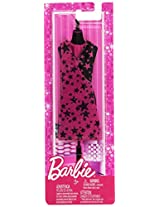 Barbie Trend Outfits - Black & Pink Dress (w/ stars)