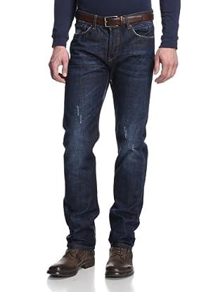 Rockstar Denim Men's Slim Fit 5 Pocket Jeans (Dark Wash)