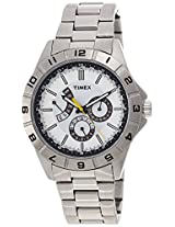 Timex Analog White Dial Men's Watch - T2N518