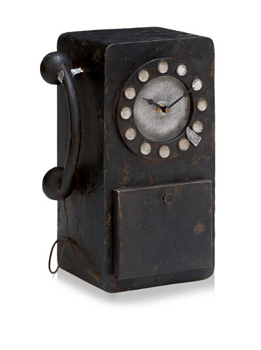 Industrial Chic Old-Fashioned Telephone Clock