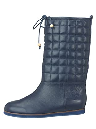 flip flop Botas Acolchadas Piel Quilt (Azul)