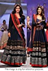 Bollywood Replica Shilpa Shetty Silk and Net Anarkali Suit In Blue Colour NC253
