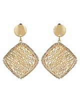 Beautiful Square Shape Sparkel CZ Stone Party Wear Earrings By Lazreena