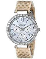 Caravelle by Bulova Crystal Analog Mother of Pearl Dial Women's Watch - 43N102