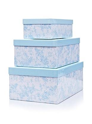Pasito a Pasito Set / 3 Cajas Forradas (Azul Celeste)