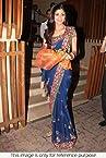 Bollywood Replica Shilpa Shetty Chiffon Saree In Blue Colour NC124