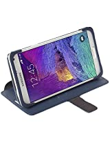 Krusell Malmo Flip Case with Stand for Samsung Galaxy Note 4(Blue)
