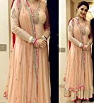 Beige Anarkali Suit Worn By Madhuri Dixit (Bollywood Replica)