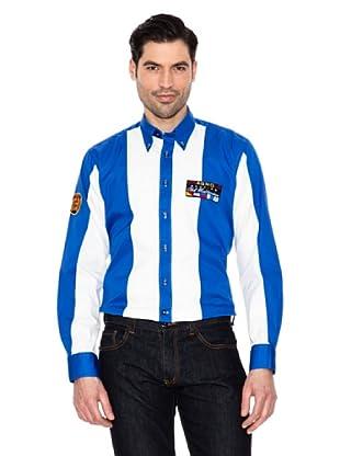 Spagnolo Camisa Gabardina Náutica M.028 (Azulón / Blanco)