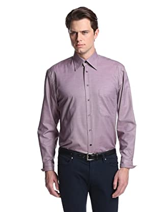 Lipson Shirtmakers Men's Micro Gingham Shirt (eggplant)