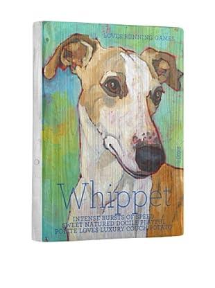 Ursula Dodge Whippet Terrier Reclaimed Wood Portrait