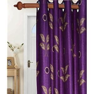Aaster Purple leaves Door Curtain