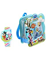 Disney Kids' MMCH014B Mickey Mouse Clubhouse Watch and Backpack Gift Set